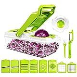 LOVIVER Picador de Verduras Rallador Manual Ajustable Receta...