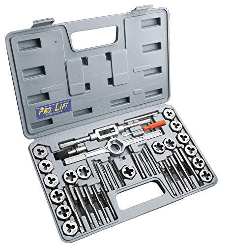 Pro-Lift-Werkzeuge Gewindeschneider Satz 40tlg. zöllig Bohrer Koffer Set Werkzeug Schneider Zoll 40-teilig Gewindebohrer