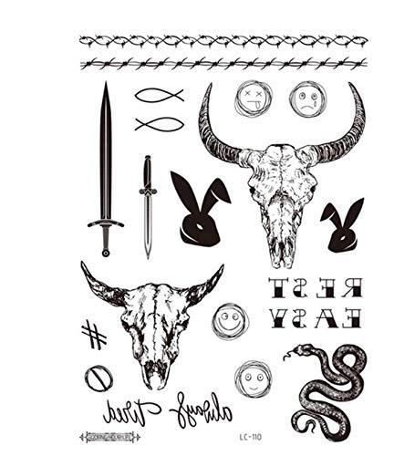 5 Unids Tatuaje Temporal Pegatinas Decoración Del Partido Arte Corporal Grande Grande Etiqueta Engomada Del Tatuaje Falso Tatuajes Temporales