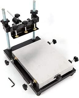 Manual Solder Paste Printer PCB SMT Stencil Printer Screen Printer Printing Machine for Screen Printing Aluminum Paster 300x240mm (S size)