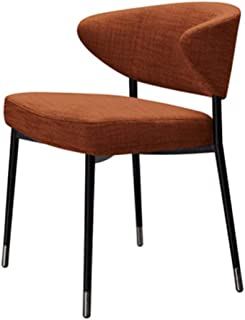 Lwieui Sillas de Comedor Moderna Silla de Comedor Cafe Comedor Respaldo Silla de la Sala de Estar y Comedor Sillas de Comedor Cocina (Color : Orange, Size : 56x62x77cm)