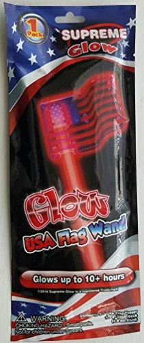 20,3cm Super-Glow Stick mit USA Flagge Zauberstab, | Supreme Glow