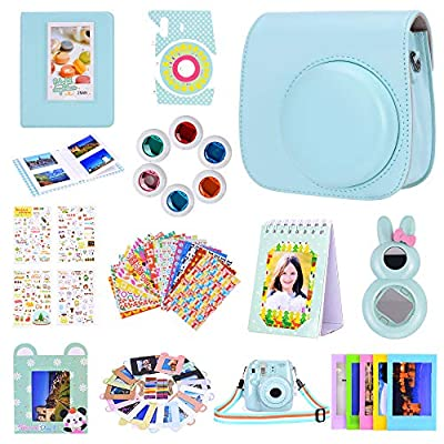 Amarcor Instax Mini 9 Camera Accessories Set for Fujifilm Instax Mini 9/ Mini 8/ Mini 8+ Camera,Includes Mini 9 Case/Albums/Six Color Filters/Selfie Lens/Camera Sticker by Amarcor