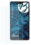 Bruni Schutzfolie kompatibel mit Sharp Aquos D10 Folie, glasklare Bildschirmschutzfolie (2X)