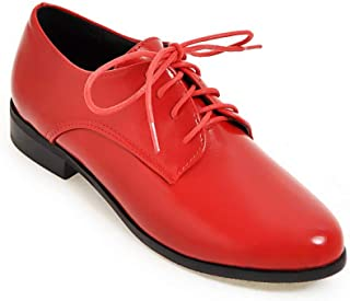 BalaMasa Womens APL11599 Leather Oxfords
