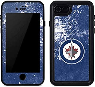Skinit Waterproof Phone Case Compatible with iPhone SE - Officially Licensed NHL Winnipeg Jets Frozen Design