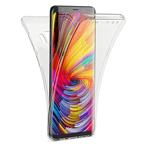 Kaliroo Handyhülle 360 Grad kompatibel mit Samsung Galaxy S9 Plus, Dünne Silikon R&um Hülle Full-Body Cover, Slim Schutzhülle Handy-Tasche Phone Hülle, Vorne und Hinten Komplett-Schutz - Transparent