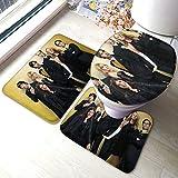 The Big Ban-g Theory Comfort Collections - Juego de alfombrillas de baño con pedestal, alfombra de baño suave, antideslizante, alfombrilla de baño de chocolate, 3 piezas