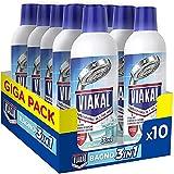 Viakal Detersivo Anticalcare Liquido Bagno 3 in 1, Maxi Formato 10 Pezzi da 515 ml