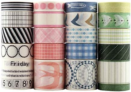 Multi-Pattern Decorative Washi Tape, Lychii Decorative Tape Scrapbook Supplies for DIY, Journals, Daily Planners, Gift Wrapping, Office Party Supplies (Ocean Series 1)