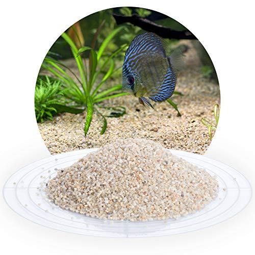 Schicker Mineral Aquariumsand Aquariumkies beige im 25 kg Sack, kantengerundet, gewaschen, ungefärbt, (1,0-2,0 mm)