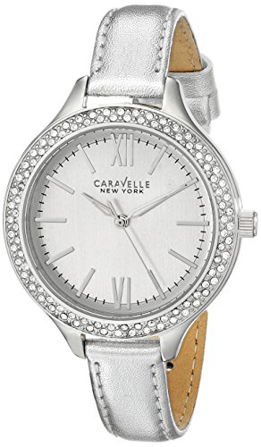 Caravelle New York Women's 43L167 Analog-Display Japanese-Quartz Silver-Tone Watch