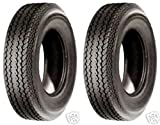 (SET OF 2) TG Load Range C 6 Ply Rated Hiway Speed Tubeless Trailer Service Tires 4.80-8 4.80x8