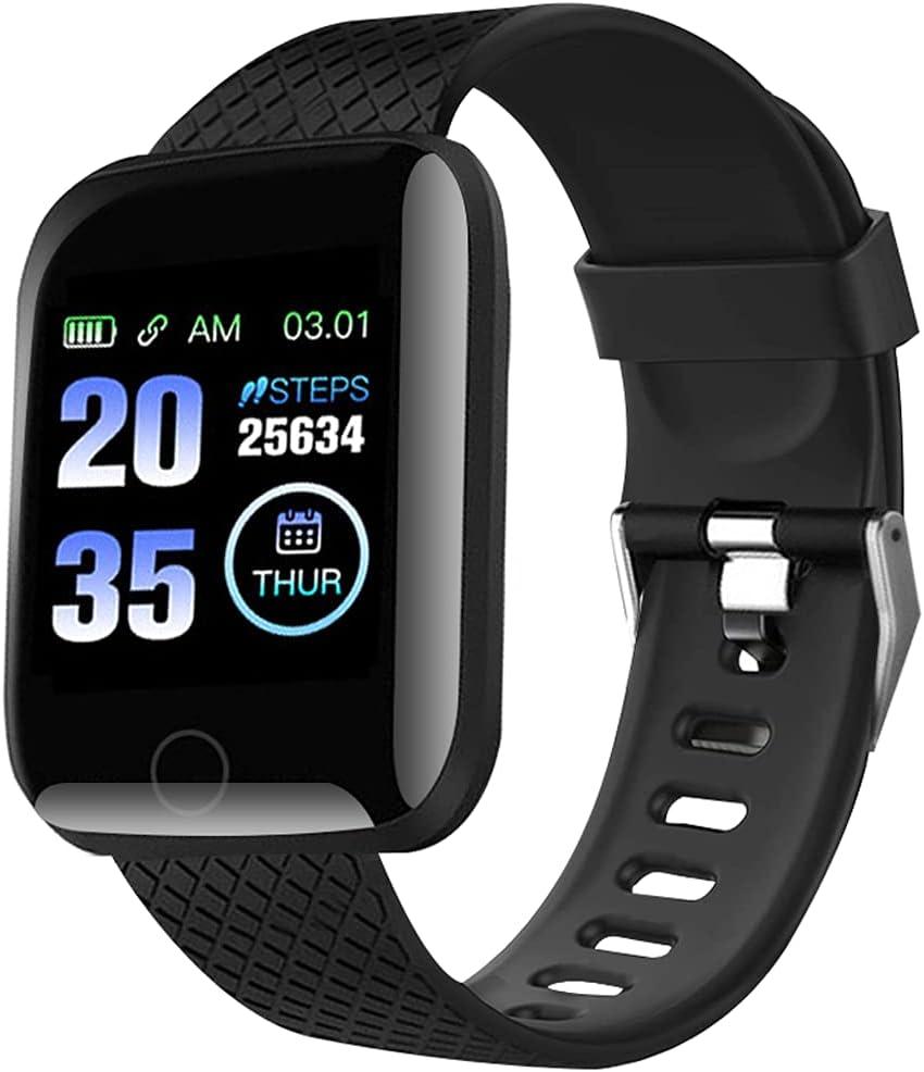 FITOYA Smartwatch, Sport Fitness Tracker Smartwatch,mit Pulsuhr Schlafmonitor 、StoppuhrIP65 Wasserdicht Sportuhr Schrittzähler für Android und iOS…