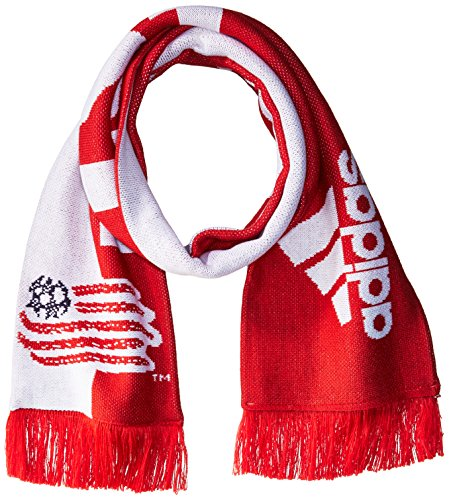 adidas MLS New England Revolution 1st Kick Jersey Hook Jacquard Scarf, One Size, Red