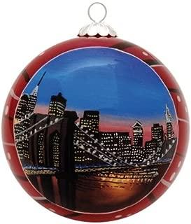 New York Christmas Ornament - Brooklyn Bridge and Manhattan At Night