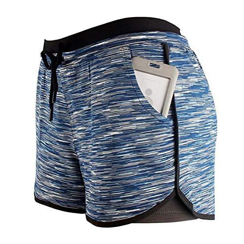 Luandge Pantalones Cortos de Yoga Informales para Mujer, Pantalones elásticos Suaves para Mujer, Mallas de Gimnasio para Entrenamiento de Pilates, Pantalones de Cintura Alta Small