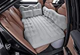 CNAMOY Car Air Mattress, Inflatable Bed for Car - Universal Car Mattress for Back Seat with Air Pump, Flocking & PVC Surface Car Bed with Upgrade Side File for SUV/Sedan/Minivan/Truck Camping – Grey