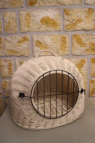 Marcus Weidenhandel Katzentransportkorb Katzenhöhle Transportkorb Katzenkorb Weidenkorb Korb Katze (ohne Kissen)