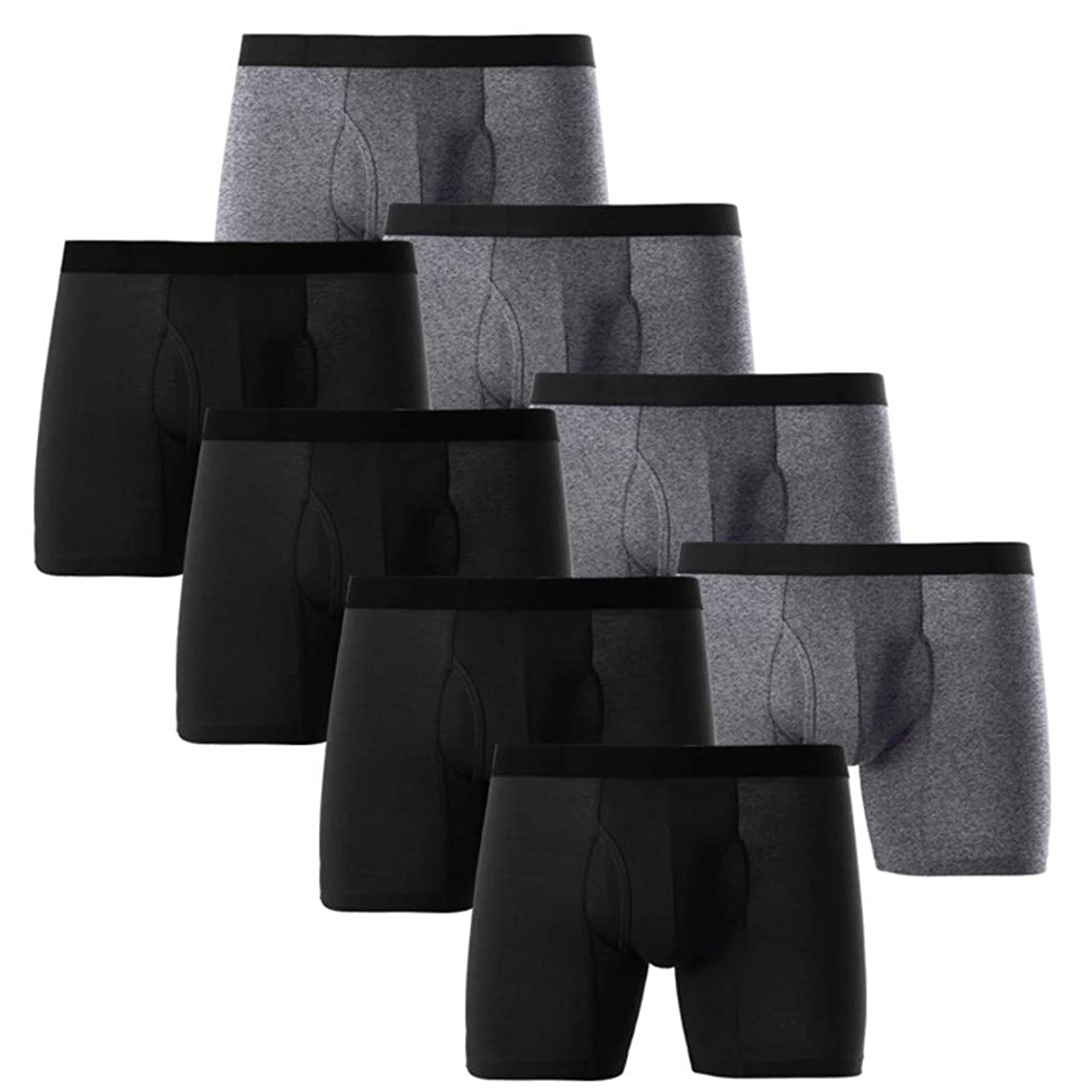 Soft Cotton Underwears Men,Donci Pouch Fit Size Thin Breathable Daily Underpants 4pc Short Leg Boxer Shorts