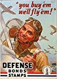 IFUNEW Cuadros Decorativos Sellos de bonos de Defensa Comprar War Win US Air Force Art Poster Lienzos Decorativos de Pared Posters Decoración del hogar 60x90cm