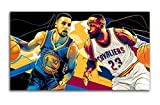 Sportplakat Lebron James und Stephen Curry Leinwand Poster