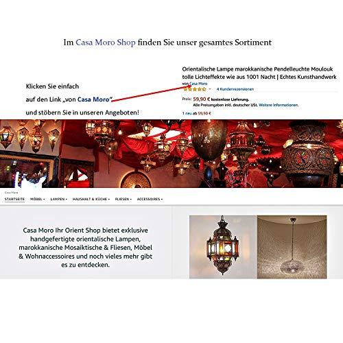 Casa Moro Schöne orientalische Truhe Hessa 120x40x77 (BxTxH) mit 3 Schubladen aus massiv Mangoholz mit Metallapplikationen verziert | Orient Holztruhe im Kolonialstil | CAC3602190 - 5