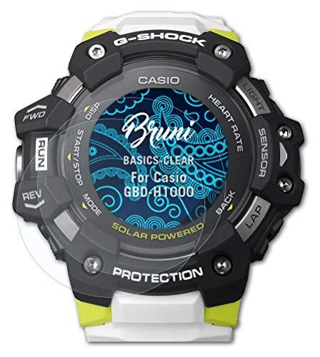 Bruni Schutzfolie kompatibel mit Casio GBD-H1000 Folie, glasklare Bildschirmschutzfolie (2X)