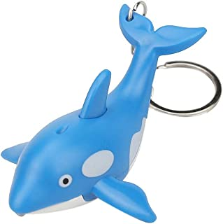 2d5c9cfd CZYCO Cute Cartoon Mini Dolphin Keychain With LED Light Sound Keyfob  Keychains for Kids Toy Gift