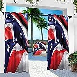 Aishare Store - Cortina para patio al aire libre, diseño de estrellas de la bandera de Ohio, 132 x 241 cm, resistente panel interior para porche, balcón, pérgola, toldo de carpa (1 panel)