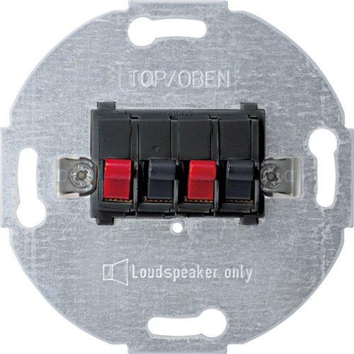 Merten 467014 Lautsprecher-Anschluss-Einsatz, 2fach, anthrazit