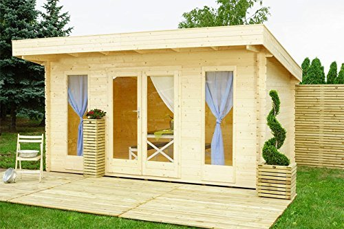 Gartenhaus / Eckmodell Elmo Outdoor Life Products Blockhaus 430 x 300 cm