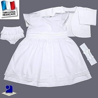 816b8c645be27 Amazon.fr   Robe Bapteme Bébé - Poussin Bleu   Bébé fille 0-24m ...