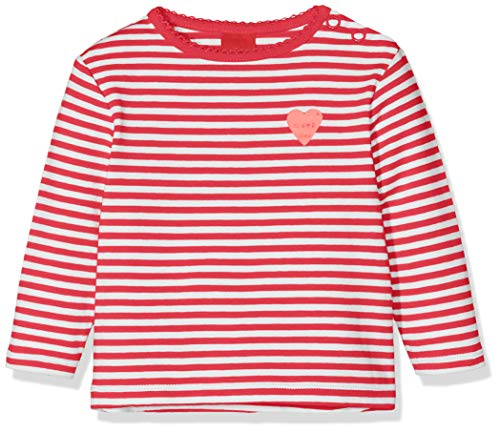 s.Oliver 65.908.31.7495 Maglia a Maniche Lunghe, Rosso (Red Knitted Stripes 34g4), 92 Bimba