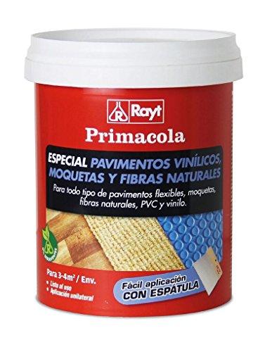 Rayt 555-09 Primacola C-15 Adhesivo acrílico Especial PVC, pavimentos vinílicos, moquetas, revestimientos Textiles y Fibras Naturales. SIN disolventes. Fácil aplicación con espátula, 1kg