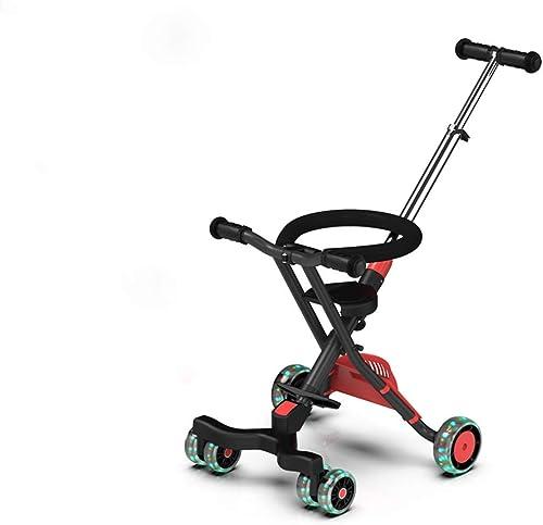 MINISU S ling Baby Kinder Dreirad Trolley Aluminiumlegierung Einfache Leichte Falten schwarz-766 (Farbe  C) Reise (Farbe   B)