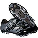 BOODUN Men's Cycling Shoes,mountain Bike Lock Shoes,mtb Road Pro Cycling Shoes,Grey-39EU