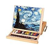 Catekro Caballete de escritorio de madera con cajón Caballete portátil pequeño para adultos / niños / adultos mayores, 33.5 × 25.8 × 4.5 cm