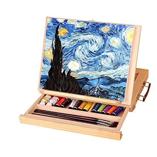 Artista Cavalletto Scrivania Cassetto Olio Cavalletto In Legno Piccolo Cavalletto Portatile Desktop Pittura A Olio Box/Desktop Cavalletto/Sketch Cavalletto Multifunzione Portatile