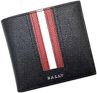 (バリー) BALLY 型押しレザー 二つ折り財布 ブラック×レッド×ホワイト TEISELLT-110[並行輸入品]