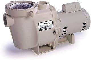 Pentair 011774 WhisperFlo High Performance Standard Efficiency Single Speed Up Rated Pool Pump, 2 Horsepower, 115/230 Volt, 1 Phase