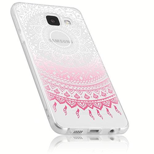 mumbi Hülle kompatibel mit Samsung Galaxy A3 2016 Handy Case Handyhülle mit Motiv Mandala rosa, transparent