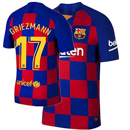 JHGVBN New 17 Griezmann 19-20 Mens Home Jerseys Size XL Blue/Red
