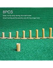 Urstory1 - Soporte de golf, 8 piezas, goma, soporte de golf para práctica de golf, para práctica de entrenamiento, para principiantes