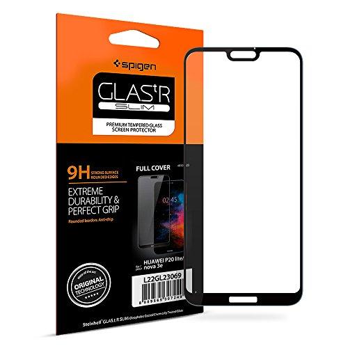 Spigen, Vetro Temperato Huawei P20 Lite, [Copertura Completa], Pellicola Protettiva P20 Lite, [ Edge to Edge ] Protezione per Schermo Huawei P20 Lite (L22GL23069)