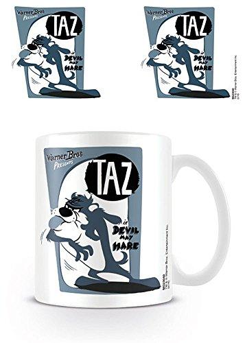 empireposter Looney Tunes - Taz - Retro - Keramik Tasse - Größe Ø8,5 H9,5cm