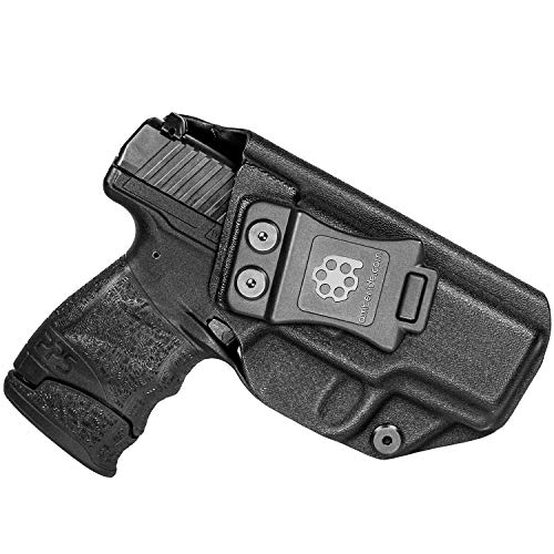 Amberide IWB KYDEX Holster Fit: Walther PPS M2 | Inside Waistband | Adjustable Cant | US KYDEX Made (Black, Right Hand Draw (IWB))