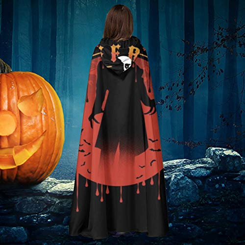 AISFGBJ Nosferatu Silueta Unisex Navidad Halloween Bruja Caballo con capucha Vampiros Capa Disfraz Cosplay