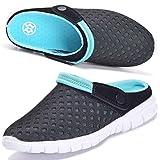 Hsyooes Zuecos para Hombres Mujeres Zapatillas de Playa Respirable Malla Sandalias Verano Antideslizante Zapatillas de Jardin