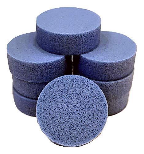 PolySound Sylo High-End Lautsprecher Füße, Schwingungsdämpfer 8er Set blau 7-15kg - materialschonend mit Wasser geschnitten - Nicht gestanzt - Made in Germany